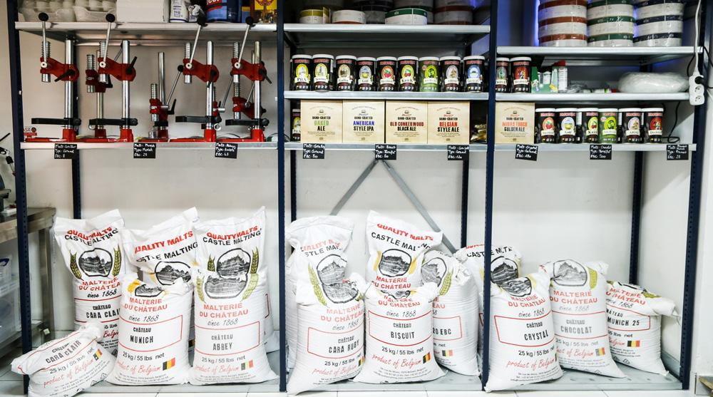 produits et matériels de brassage de bière