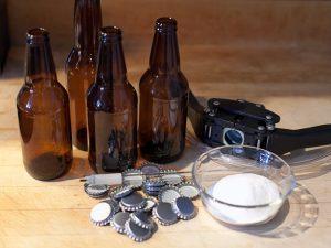 bouteilles capsules capsuleuse