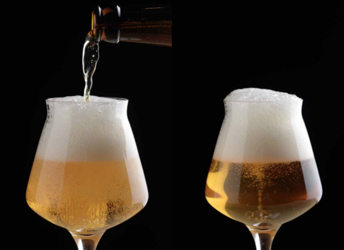Biere versée dans un verre