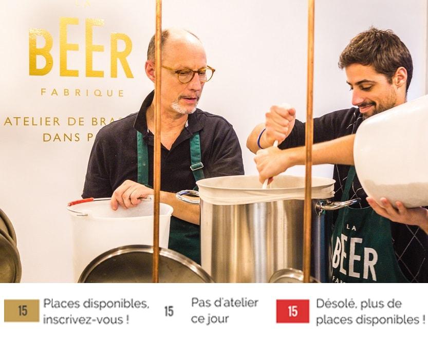 Atelier de brassage de bière à paris