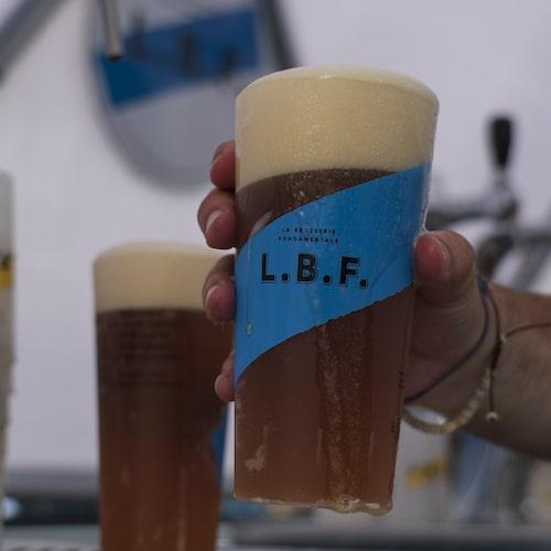 Bière LBF en train d'être tirée