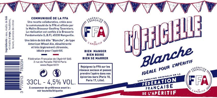 Etiquette de bière personnalisée FFA